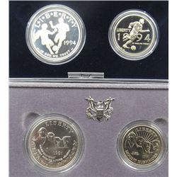 1991 MT RUSHMORE 2 COIN UNC SET;