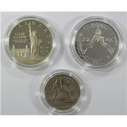 1986 STATUE of LIBERTY 2 COIN SETSILVER COMMEM DOL