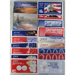 10 U.S. MINT SETS MIX YEARS 1998-2008