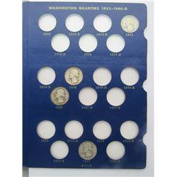 WASHINGTON QTR NEAR SET 1934-1964 (66 COINS)