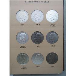 EISENHOWER DOLLARS 1971-1978 (32 COINS)