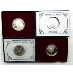 4-1982 WASHINGTON COMMEM HALF DOLLARS