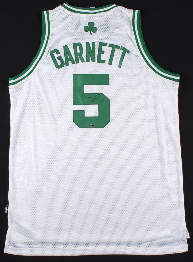 sale retailer 550fb 2ba34 Kevin Garnett Celtics Jersey (Steiner Hologram)