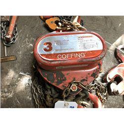 COFFING XL 9810 3 TON CHAIN HOIST