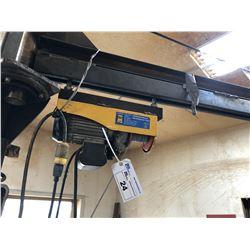 POWER FIST 1320 LB ELECTRIC HOIST WITH 500 LB CAPACITY JIG