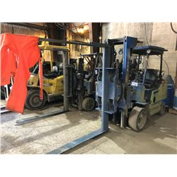 CLARK SHORT MAST 5000 LB PROPANE FORKLIFT WITH BIN FORKS/MANIPULATOR, BACK TILT, HARD TIRES