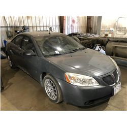 2008 PONTIAC G6 4 DOOR SEDAN, GREY,VIN#1G2ZG57N984231330,  RUNNING RUNNING WELL, DRIVEABLE