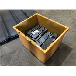 METAL BIN WITH PARTS INC. ASSORTED METAL BRACKETS