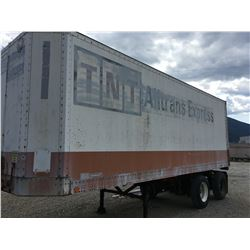 FRUEHAUF MODEL FPX-F1-F1-28-102 28' TRACTOR TRAILER WITH ASSORTED CONTENTS IN AND AROUND