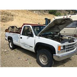 1992 CHEVROLET CHEYENNE PICKUP TRUCK, VIN 1GCGK24NXNE190801, NOT RUNNING, PARTS ONLY