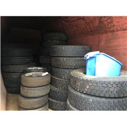 ALL LOOSE TIRES/RIMS IN YARD, INC. CONTENTS OF COMPACTOR
