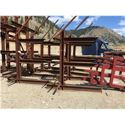 APPROX. 7' ARM 3 LEVEL HEAVY DUTY STEEL RACK