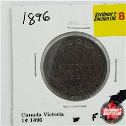 Canada Large Cent 1896 Near 6