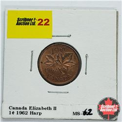 Canada One Cent 1962 Harp