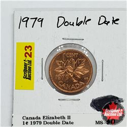 Canada One Cent 1979 Double Date