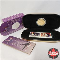 RCM : 2001 World Figure Skating Championships (Stamp & 24kt Gold-Plated Medallion Set)