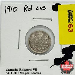 Canada Five Cent 1910 Maple Leaves