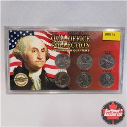 Oval Office Collection - Washington Quarters : 1976; 1976D; 1998D; 1998P; 1999D; 1999P