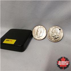 US Liberty Dollars (2): 1776-1976; 1972 (Punched)