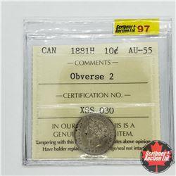 Canada Ten Cent 1881H - Obverse 2 (ICCS Cert: AU-55)