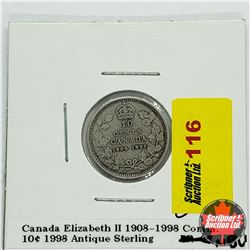 Canada Ten Cent 1908-1998 Comm. Antique Sterling
