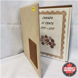 Coin Collecting Binder for Canada Ten Cent : Information & Year 1858-2017