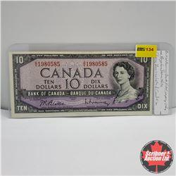 Canada $10 Bill 1954 : Beattie/Rasminsky OV1980585