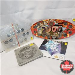 Group of 4: Collector Items: 2000 Canada Quarter Set + Toonie; 1999 Millennium Quarters; 60th Annive