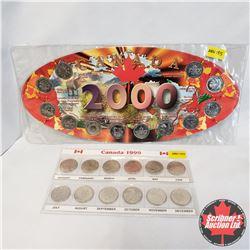 "Group of 2: Collector Items: 2000 Canada Quarter Set; 1999 Millennium Quarters  ""Month"""