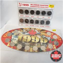 "Group of 2: Collector Items: 1999 Canada Quarter Set; 1999 Millennium Quarters  ""Month"""