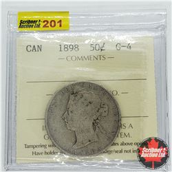 Canada Fifty Cent 1898 (ICCS Cert G-4)