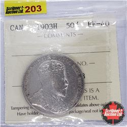 Canada Fifty Cent 1903H (ICCS Cert EF-40)