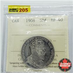 Canada Fifty Cent 1908 (ICCS Cert EF-40)