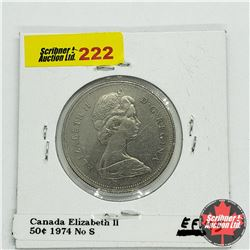 Canada Fifty Cent 1974 No S