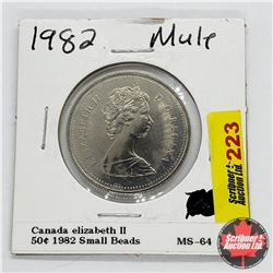 Canada Fifty Cent 1982 Small Beads