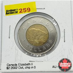 Canada Toonie 2002 Dot (Chip in 0)