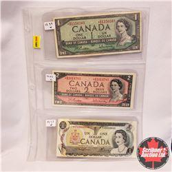 Canada Bills - Sheet 3 - Replacement Notes* : 1954 Beattie/Rasminsky *BM1150349; 1954 Beattie/Rasmin