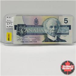 """Canada $5 Bill 1986 Thiessen/Crow GNV8780878 """"Radar"""""""