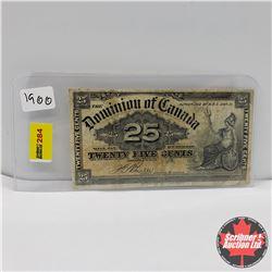"""Dominion of Canada 25¢  1900  """"Shinplaster"""""""