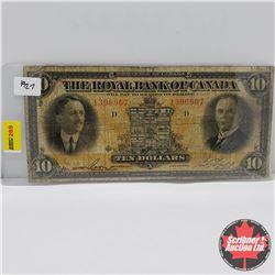 The Royal Bank of Canada $10 Bill 1927