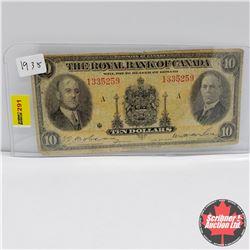 The Royal Bank of Canada $10 Bill 1935