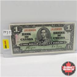 Canada $1 Bill 1937 : Coyne/Towers UM6169098