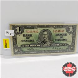 Canada $1 Bill 1937 : Osbourne/Towers EA0557887