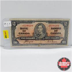 Canada $2 Bill 1937 : Coyne/Towers JR1246104