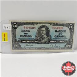 Canada $5 Bill 1937 : Coyne/Towers CS3306318