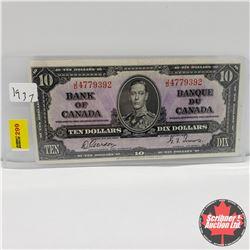 Canada $10 Bill 1937 : Gordon/Towers JD4779392