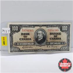 Canada $100 Bill 1937 : Gordon/Towers BJ3791565