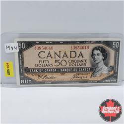 Canada $50 Bill 1954 : Beattie/Coyne AH3854646