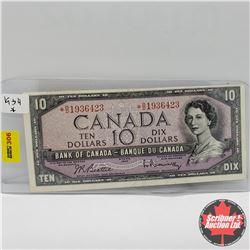 Canada $10 Bill 1954 (*Replacement) : Beattie/Rasminsky *BD1936423