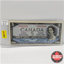 Canada $5 Bill 1954DF : Beattie/Coyne DC8932098
